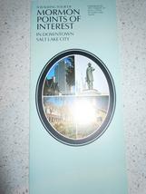A Walking Tour of Mormon Points of Interest Utah Brochure 1986 - $3.99