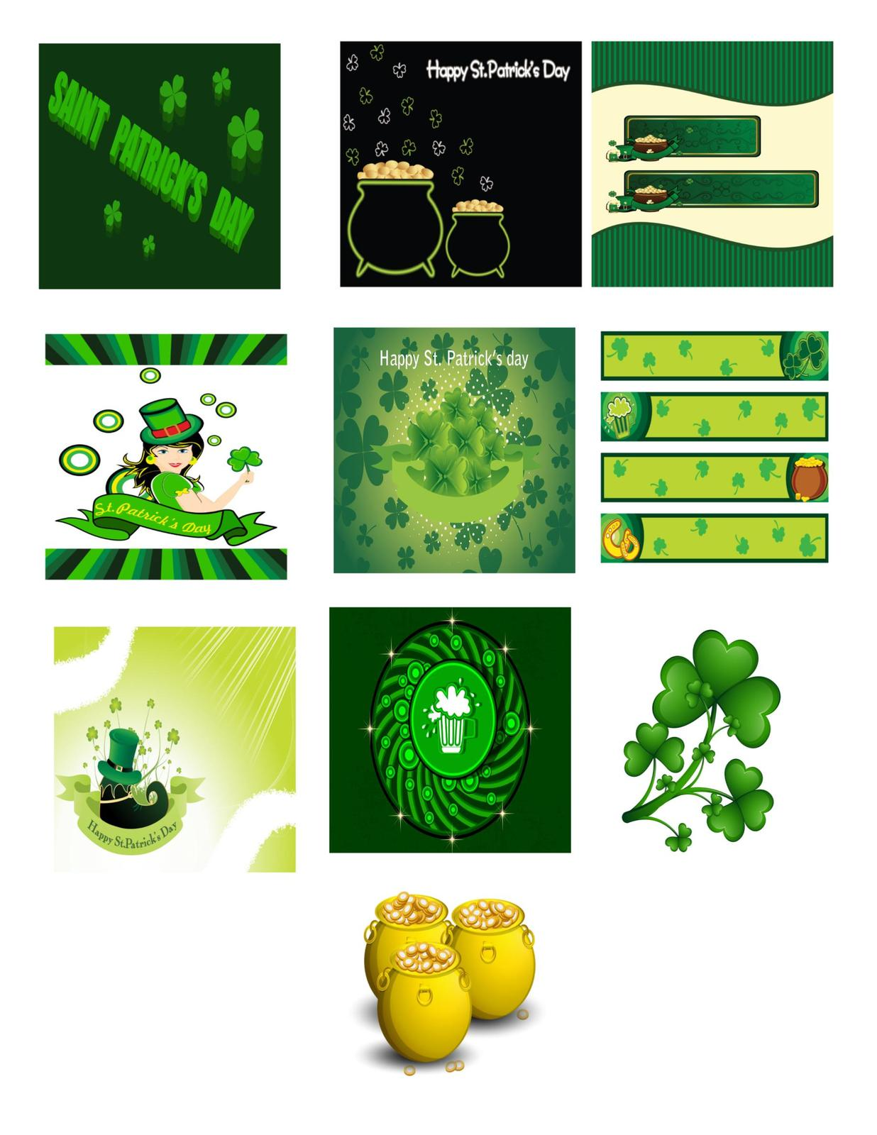 10-St Patricks Day A1-Digital Clipart