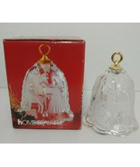 Mikasa Home Beautiful Little Angel Frosted Glass Christmas bell in box G... - $4.95