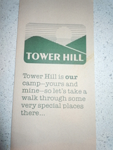 Tower HIl Camp Travel Brochure  - $3.99