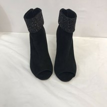 Kate Spade Black Ankle Boots Suede Womens Shoes Size 8B - $39.50