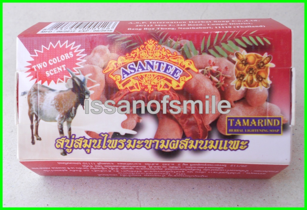 6x135g Thai Herbal Soap Tamarind & Goat Milk Skin Lightening Anti Wrinkles Aging
