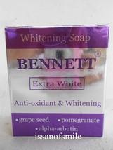 Bennett Extra Whitening Soap Anti-Oxidant Alpha Arbutin Skin Brightening... - $9.99