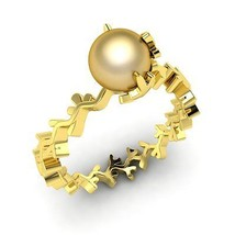 1.00 ct Round Golden Pearl Solitaire Ring in Yellow Gold Size (5-8) Free... - $244.00+