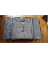 "Vintage Fifth Avenue BlueTweed Suitcase Travel Luggage 24"" x 16"" x 7"" - $24.74"