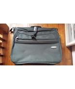 Atlantic Suitcase Luggage Suit Garment Folding Hanging Bag Dark Green Fa... - $24.74