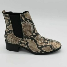 Qupid Womens Repeat Chelsea Boots Multicolor Snakeskin Embossed 6. 5 New - $35.76