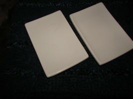 "white small oriental PLATES 8 X 5.5"" w/sm pedestal - two (hall F3) - $7.70"