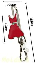 Key finder Dress charm White bag charm ring chain keyring finder gift ke... - $5.18 CAD