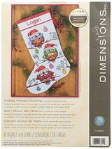 Dimensions X Holiday Hooties Counted Cross Stitch Personalized Christmas... - $36.99