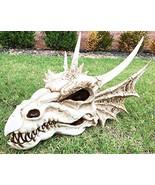 "Large 18"" Long Erathia Elder Dragon Skull Fossil Statue Figurine Might a... - $108.89"