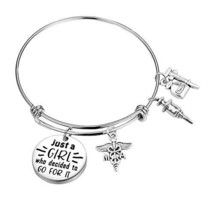 BNQL Medical Assistant Charm Bracelet Gifts for Medical Students Bracelet S - $14.87