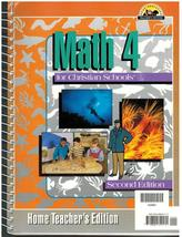 Math 4 for Christian Schools BJU Press Home Teacher Guide 2nd Edition - $12.75