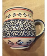 POLISH POTTERY BARREL COFFEE/TEA MUG 12 Fl Oz NWT - $16.99