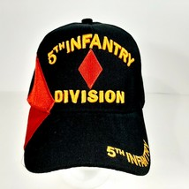 US Army 5th Infantry Division Men's Ball Cap Hat Black Embroidered Acrylic - $12.37