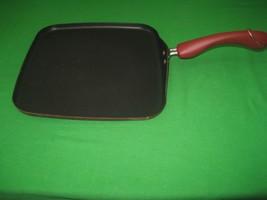 Paula Deen Signature Porcelain Frying Pan Skillet Griddle Nonstick Red H... - $12.82