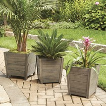 Outdoor Decor Large Wooden Cane Bay Planter w/Charming Eco Friendly Dura... - ₹3,921.30 INR