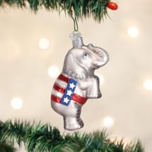 OLD WORLD CHRISTMAS REPUBLICAN ELEPHANT POLITICAL GLASS CHRISTMAS ORNAME... - $12.88