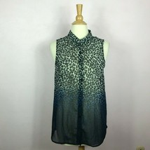 Divided by H&M Animal Print Sheer Top Size 8  - $18.81