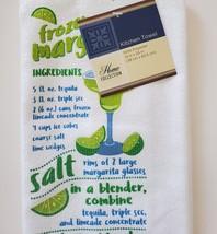 Margarita Glass and Kitchen Towel, Green Cactus Stem 16oz Drinks Recipe Gift image 7