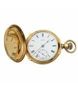 A.W. Co Waltham 14k Yellow Gold Circa 1890s Manual Wind Pocket Watch - $3,899.00