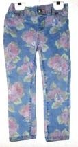 Girls Blue Rose Print J EAN S Size 4T - $3.50