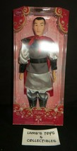 "Disney Store Authentic Li Shang of Mulan 12"" classic action figure red b... - $35.61"
