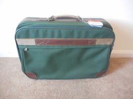 American Tourister Shoulder Suitcase Travel Bag Green Canvas - $18.57
