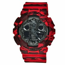 New Casio G-Shock GA-100CM-4A Red Camouflage Dial Men's Watch  - $145.13
