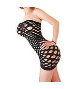 Cytherea Women's Strapless Mesh Hole Chemise Lingerie Baby Doll Mini dre... - $8.50