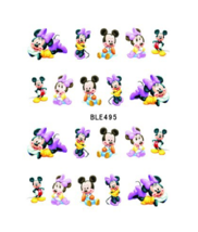 Water Transfer Watermark Art Nails Decal Sticker Manicure Minnie Mouse B... - $1.96