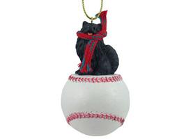 Pomeranian Black Baseball Ornament - $17.99