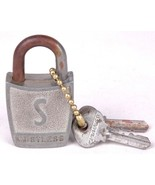 "Vintage Antique Padlock & Key, ""SLAYMAKER"" Rustless-2 Keys 5967-Old Lock... - $12.19"