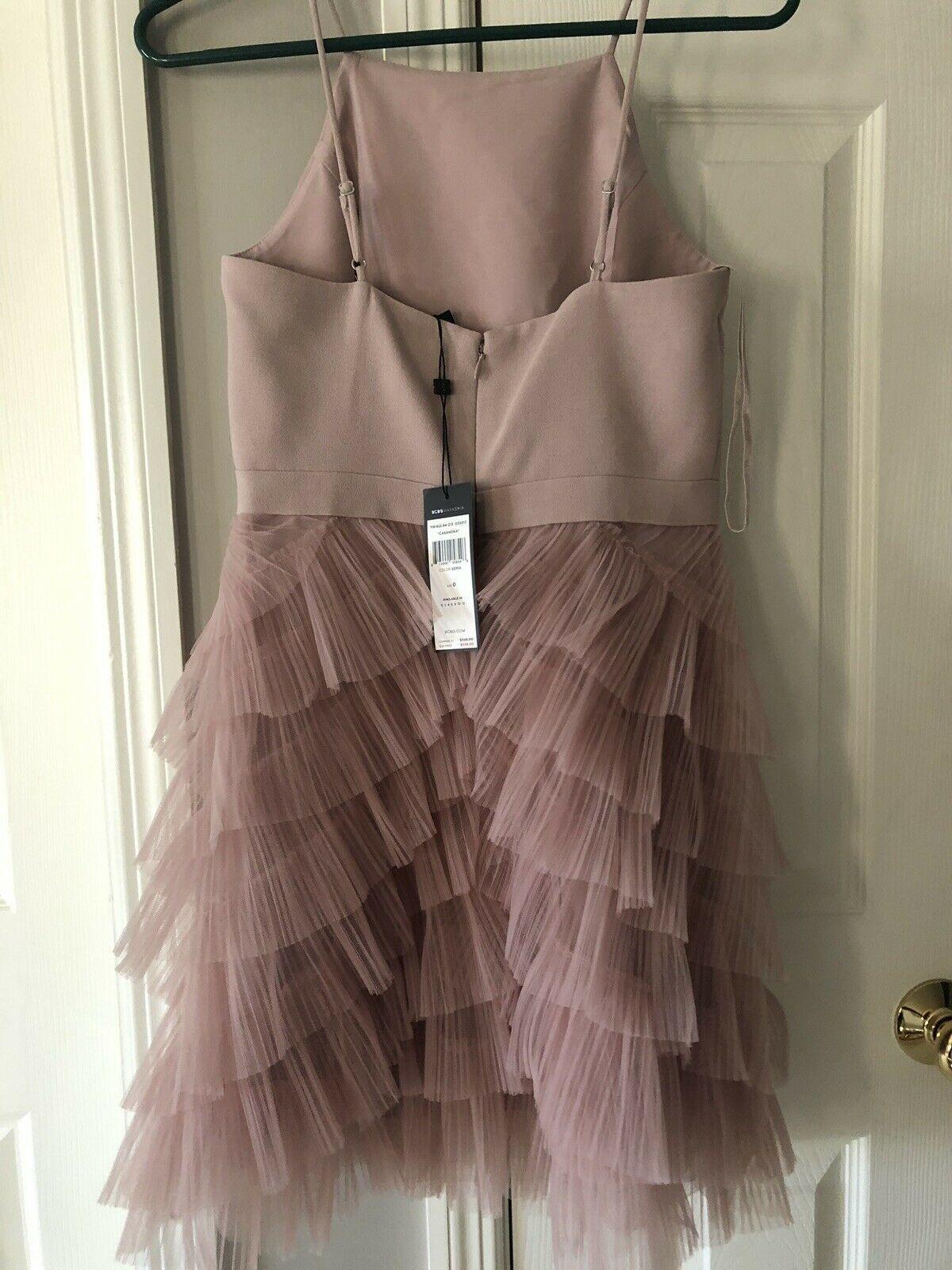 BCBG Maxazria Casandra Dress Special Occasion Pleated Tulle Women 2 NWT $248