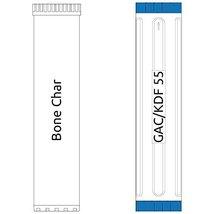 20-inch Big Blue 2 Stage Filter Kit with Bone Char-GAC/KDF55 - $184.99