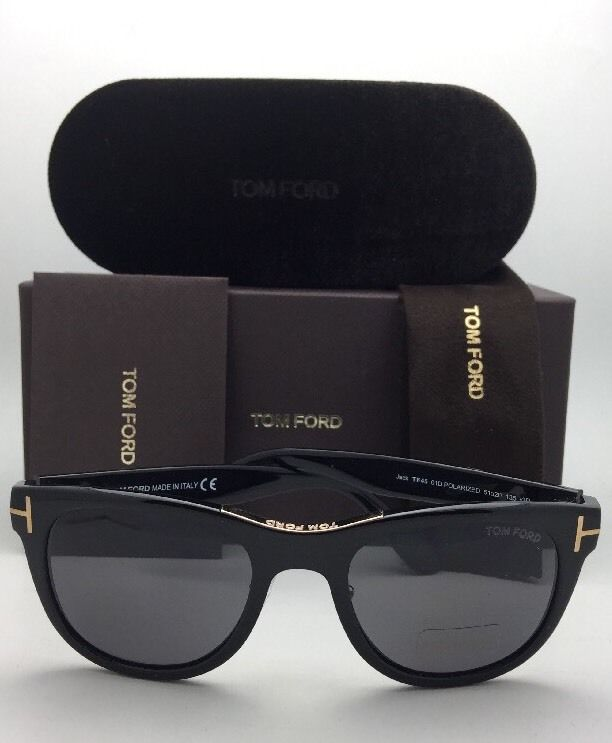 d3ba2a482c0ff Polarized TOM FORD Sunglasses JACK TF 45 01D 51-20 135 Black   Gold w