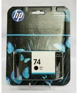 Genuine HP 74 Black Printer Ink Cartridge EXP 10-2018 - $11.30