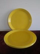Set Of 3 Discontinued Mikasa Terra Stone Saffron CN209 Dinner Plates - $56.09