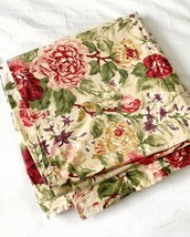 Ralph Lauren Vintage Constance Post Road Floral Flat Sheet Sz King - $64.35