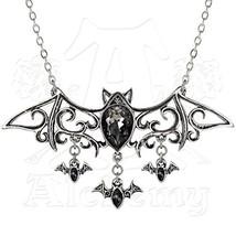 Viennese Nights Bat Necklace by Alchemy Gothic - $51.91
