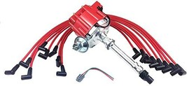 A-Team Performance HEI Distributor Red Cap and 8mm Spark Plug Wires Set Under Th image 3