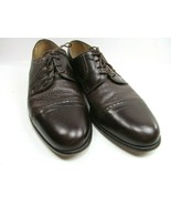 Sandro Moscoloni Louis Mens Brown Leather Derby Captoe Shoes Size US 8 S... - $34.30