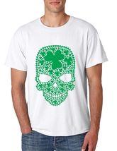 Men's Tee Shirt Saint Patrick's Day Irish Shamrock Skull Irish Shirt - $17.00