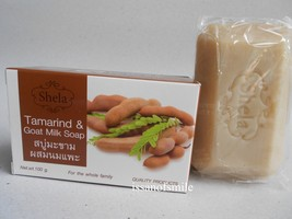 Thai Herbal Skin Soap Tamarind & Goat Milk Soap Deeply Clean Brighten Sm... - $7.99