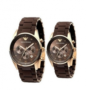 EMPORIO ARMANI AR5890 & AR5891 - ARMANI HIS AND HERS WATCHES SET