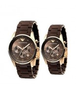 EMPORIO ARMANI AR5890 & AR5891 - ARMANI HIS AND HERS WATCHES SET - $241.29