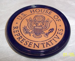 FRANKOMA U.S. HOUSE OF REPRESENTIVES TERRA COTTA SINGLE COASTER - $12.86