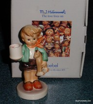 Boy With Horse #117 Goebel Hummel Candle Holder TMK6 From 1987 With Orig... - $67.89