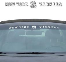 "NEW YORK YANKEES 35"" X 4"" WINDSHIELD WINDOW DECAL CAR TRUCK MLB BASEBALL - $21.28"