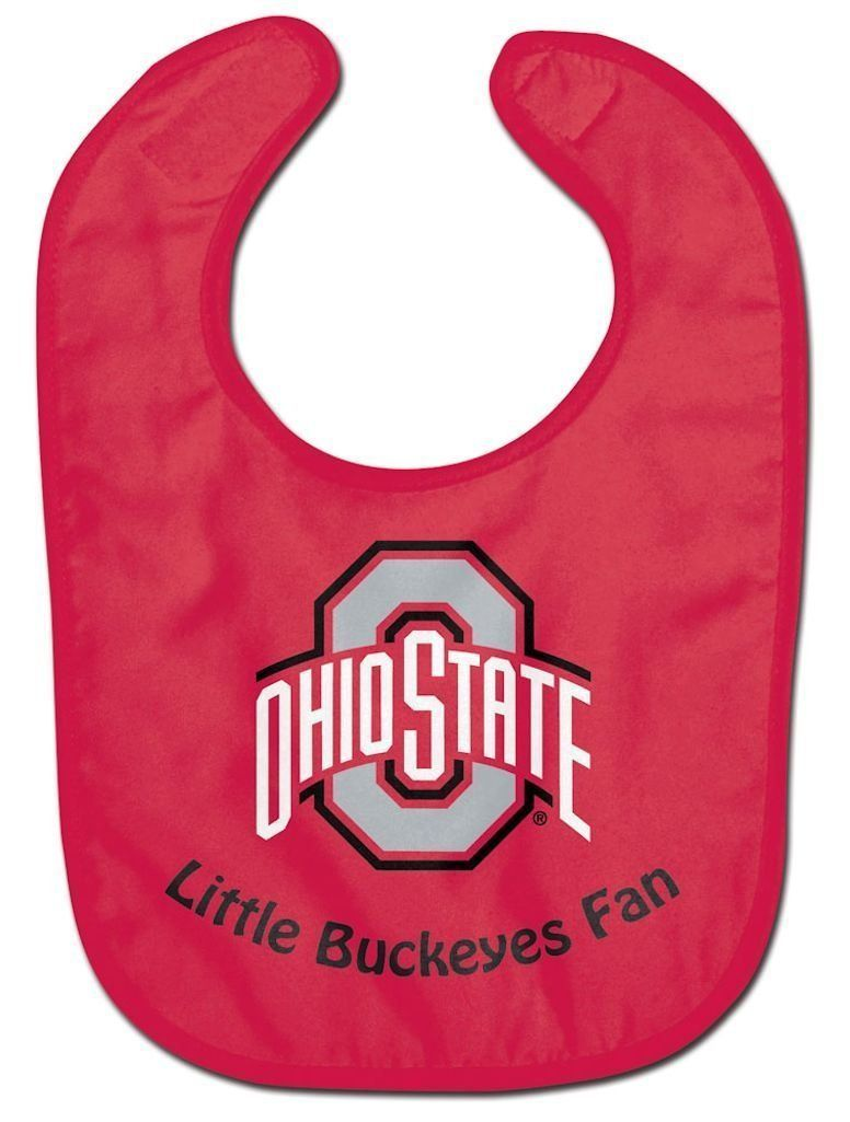 OHIO STATE BUCKEYES ALL PRO BABY BIB VELCRO CLOSURE TEAM LOGO NCAA